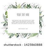 vector floral frame. greeting ...   Shutterstock .eps vector #1425860888