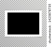 realistic plain blank photo... | Shutterstock .eps vector #1425878735