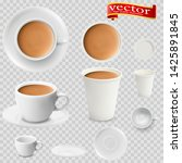 3d realistic cocoa drink coffee ... | Shutterstock .eps vector #1425891845