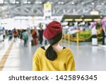 asian woman standing in trade... | Shutterstock . vector #1425896345