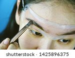 eyebrows shaping makeup... | Shutterstock . vector #1425896375