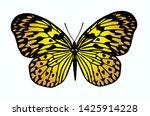 beautiful yellow butterfly on... | Shutterstock . vector #1425914228