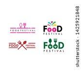 food festival logo vector...   Shutterstock .eps vector #1425921848