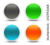 glossy web buttons | Shutterstock . vector #142592668