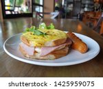 breakfast homemade small... | Shutterstock . vector #1425959075