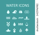 set of icons of water for... | Shutterstock .eps vector #142596982