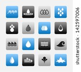 water symbol set | Shutterstock .eps vector #142597006