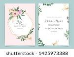 summer green and golden wedding ... | Shutterstock .eps vector #1425973388