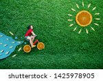 high angle view of a happy... | Shutterstock . vector #1425978905
