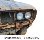 Vintage Corroded Rusty Old Car