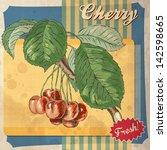 Cherry Fruit Vintage Food Art...