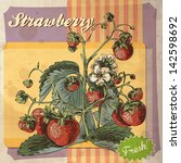 Vintage Fruit Retro Strawberry...