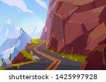 mountain asphalt road  curly... | Shutterstock .eps vector #1425997928