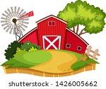 an isolated farm landscape... | Shutterstock .eps vector #1426005662
