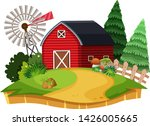 an isolated farm landscape... | Shutterstock .eps vector #1426005665