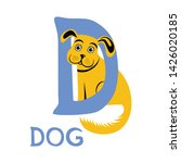 Letter D And Yellow Dog....