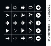 25 arrow sign icon set 05 ... | Shutterstock .eps vector #142603012