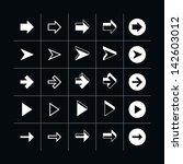 25 arrow sign icon set 05 ... | Shutterstock .eps vector #142603012