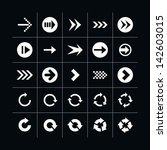25 arrow sign icon set 04 ...