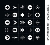 25 arrow sign icon set 02 ...