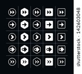 25 arrow sign icon set 08 ...