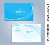 business card template. blue... | Shutterstock .eps vector #1426036475