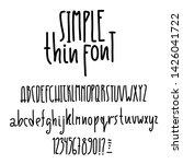 simple alphabet. modern thin... | Shutterstock .eps vector #1426041722