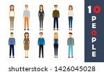 set of working people standing... | Shutterstock .eps vector #1426045028