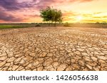 Brown Drought Dry Land Soil Or...