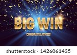 shining sign big win banner... | Shutterstock .eps vector #1426061435