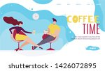 coffee time in office landing... | Shutterstock .eps vector #1426072895