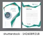 template annual report brochure ... | Shutterstock .eps vector #1426089218