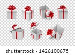 various white boxes with red... | Shutterstock .eps vector #1426100675