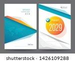 template annual report brochure ... | Shutterstock .eps vector #1426109288