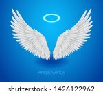 white angel wings and shining... | Shutterstock .eps vector #1426122962