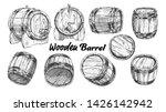 vintage wooden barrel in... | Shutterstock .eps vector #1426142942
