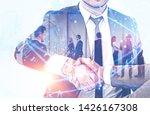 handshake of business people...   Shutterstock . vector #1426167308