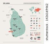 vector map of sri lanka.... | Shutterstock .eps vector #1426169462
