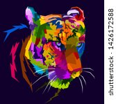 colorful tiger face isolated... | Shutterstock .eps vector #1426172588