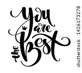 hand drawn vector lettering....   Shutterstock .eps vector #1426173278