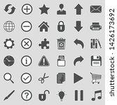 toolbar icons. sticker design....   Shutterstock .eps vector #1426173692
