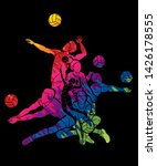 volleyball sport action cartoon ... | Shutterstock .eps vector #1426178555