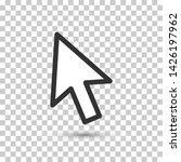 vector cursor icon on...