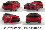 set 3d model red lexus gs on... | Shutterstock . vector #1426198865