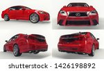 set 3d model red lexus gs on... | Shutterstock . vector #1426198892