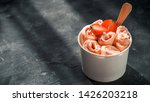 rolled ice cream with... | Shutterstock . vector #1426203218