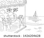 beach office bungalow graphic... | Shutterstock .eps vector #1426204628