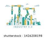 concept of industrial... | Shutterstock .eps vector #1426208198