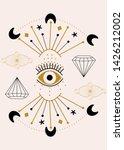 vector eye and celestial...   Shutterstock .eps vector #1426212002