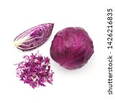 Red Cabbage With Water Drop An...